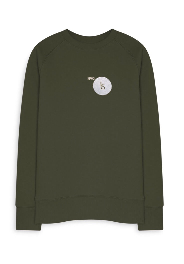 NY11 Byway CREWNECK ((NYC TAXICAB OLIVE EDITION)
