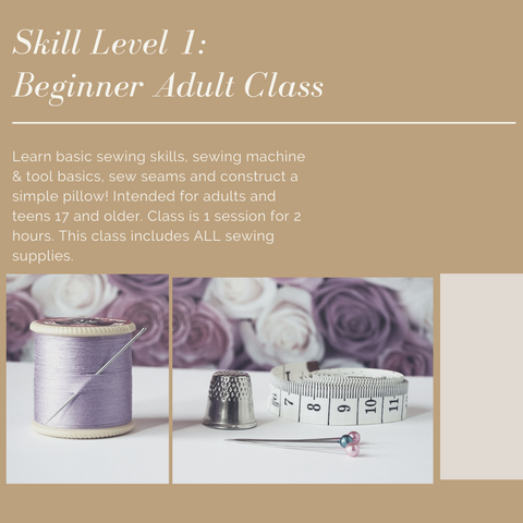 Sew Ready-Adult Sewing Classes for all Levels