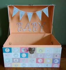 Card Box for Baby Shower! 12 Step Tutorial Included