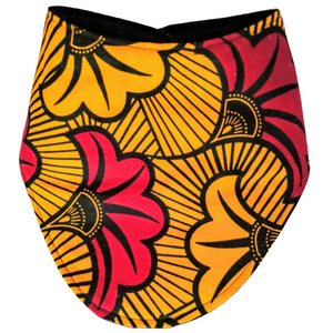 Red/Yellow Leaf- Bandana Baby Bib