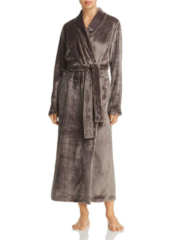UGG Marlow Double Fleece Long Robe Charcoal