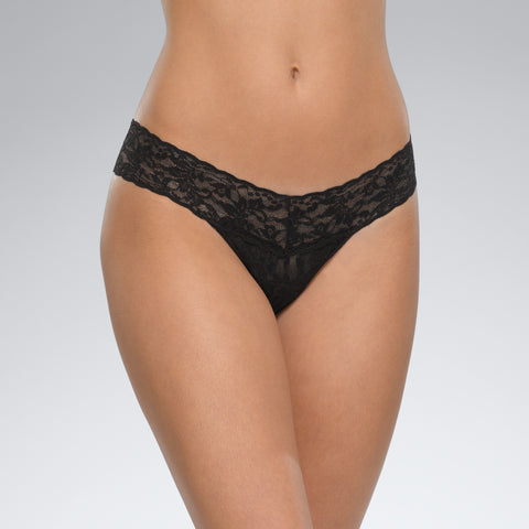 Hanky Panky Signature Lace Low Rise Thong Black
