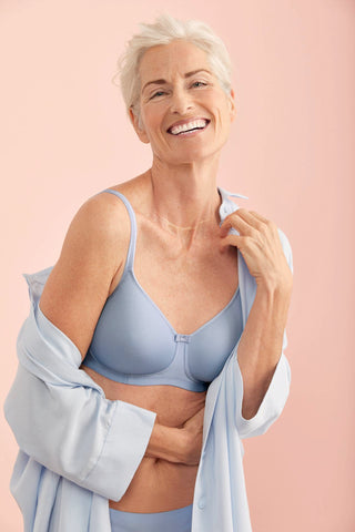 Anita Tonya Padded Wire Free Bra Soft Blue