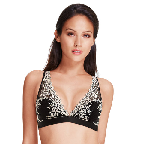 Wacoal Embrace Lace Convertible Bralette Black