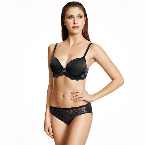 Wacoal Lace Affair Contour Bra Black/Graphite