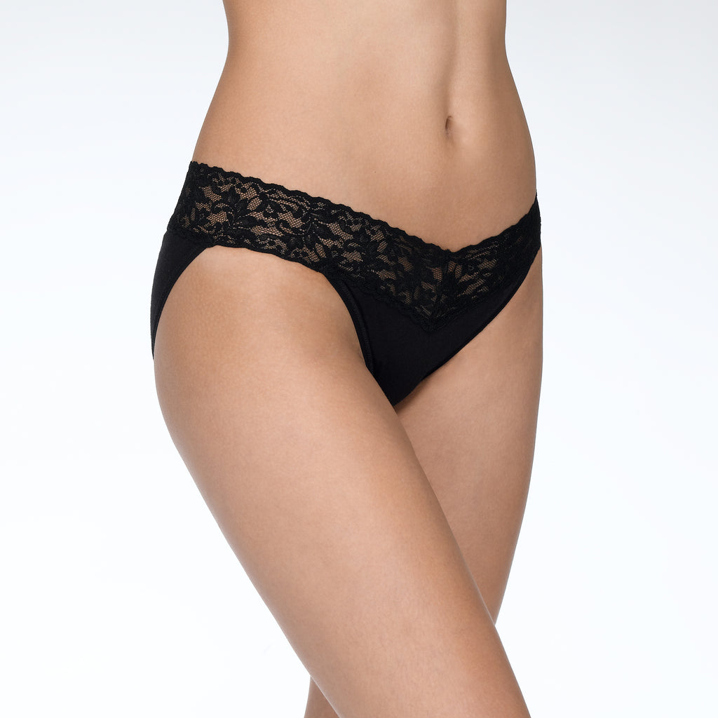 Hanky Panky Supima Cotton V-Kini Black
