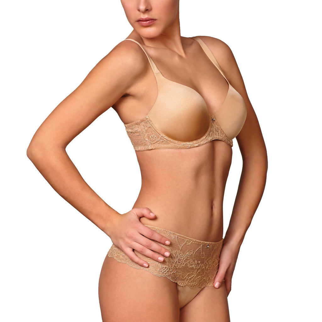 Montelle Pure Plus Full Coverage Contour Underwire Bra v1 Nude