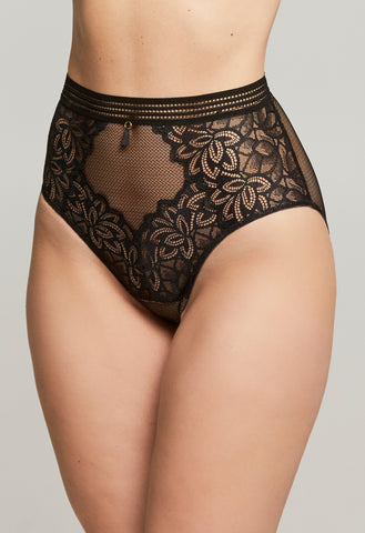 Montelle Midnight Romance High Waist Panty Black/Nude