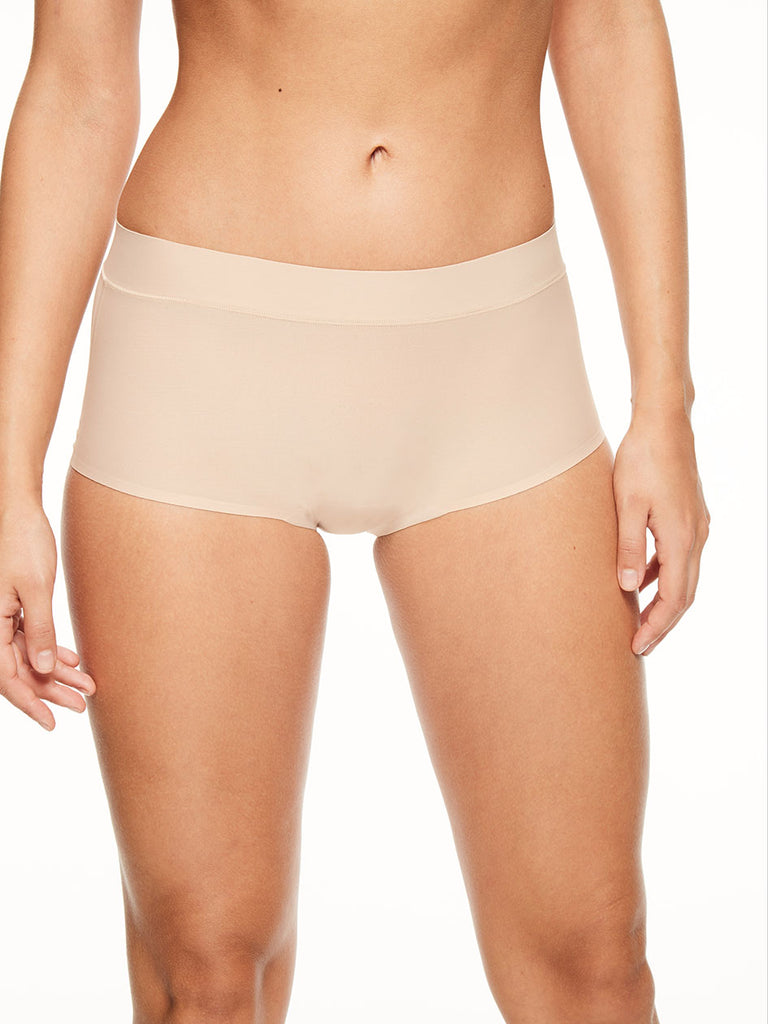 Chantelle Seamless Soft Stretch Boyshort Nude