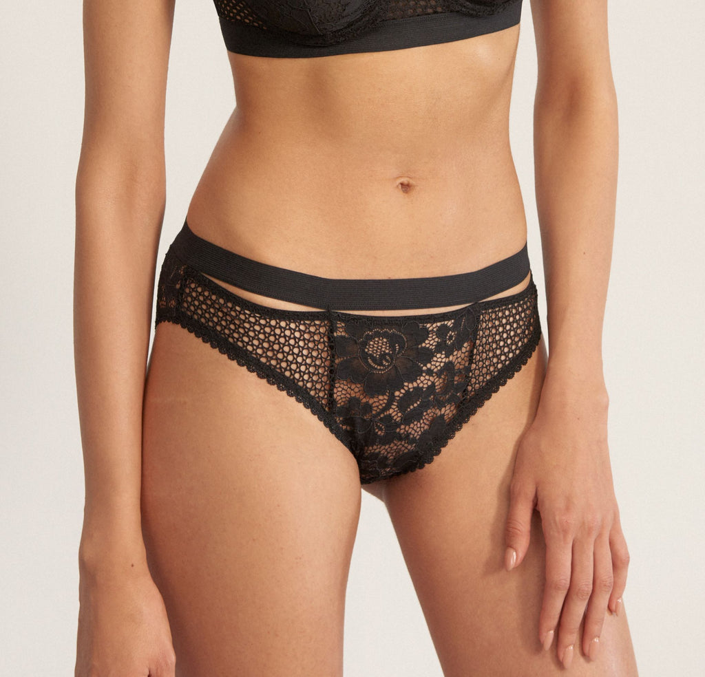ELSE Lingerie Petunia Brief in Black