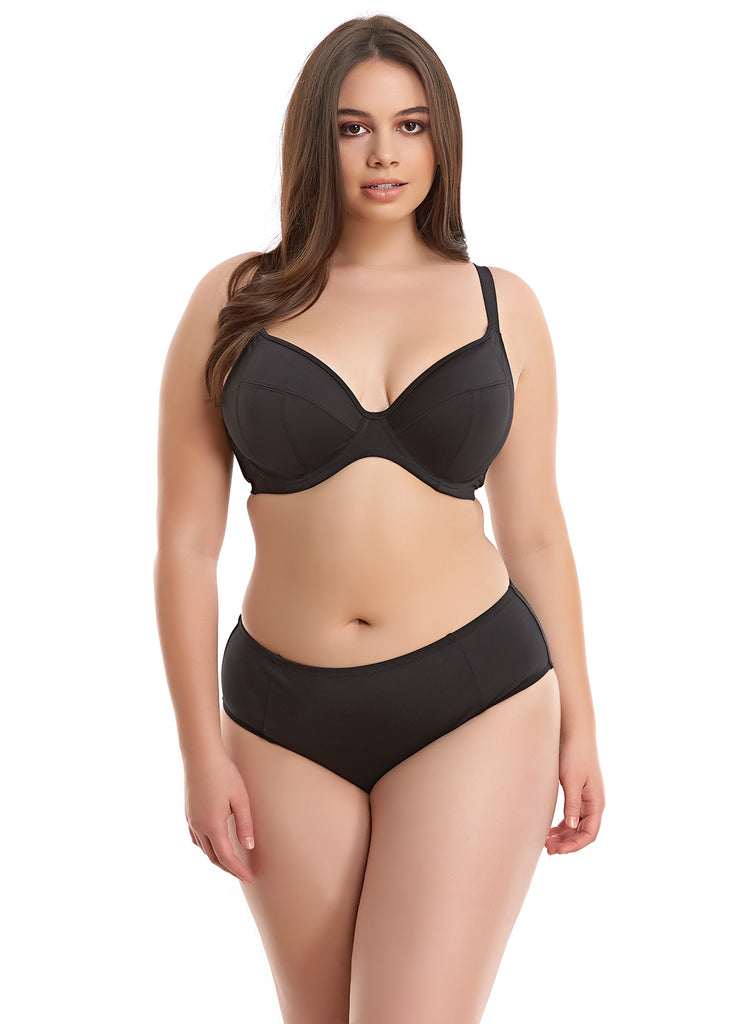 Elomi Essentials Underwire Plunge Swim Top Black