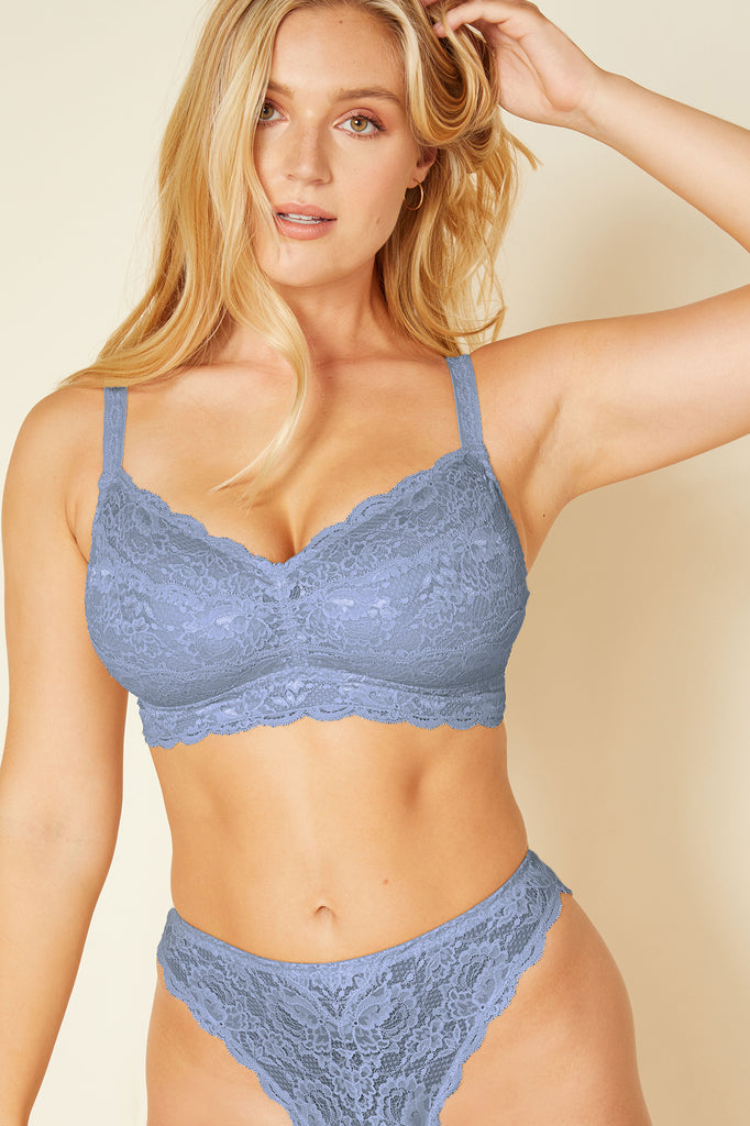 Cosabella Never Say Never Curvy Bralette Coastal Blue