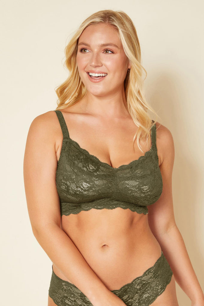 Cosabella Never Say Never Hook and Eye Curvy Bralette Evergreen