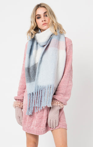 Pia Rossini Connolly Scarf Blue