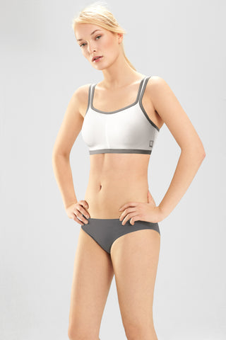 Natori Power Yogi Convertible Sports Bra White/Grey