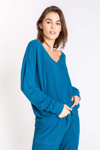 P.J. Salvage Cozy PJ Set Teal