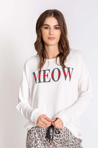 P.J. Salvage Long Sleeve Meow Shirt