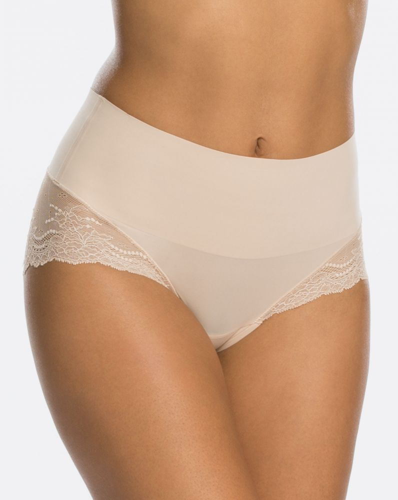 Spanx Undie-tectible Lace Hi-Hipster Panty Soft Nude