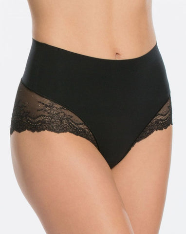 Spanx Undie-tectible Lace Hi-Hipster Panty Black