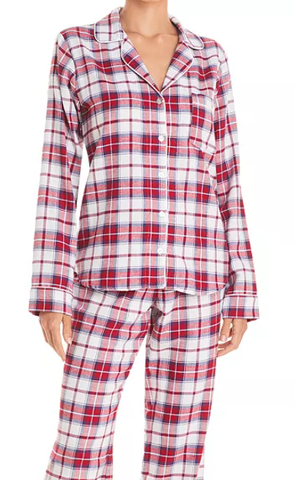 UGG Raven Flannel PJ Set White/Red