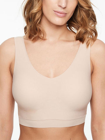 Chantelle Soft Stretch Padded V-Neck Bra Nude
