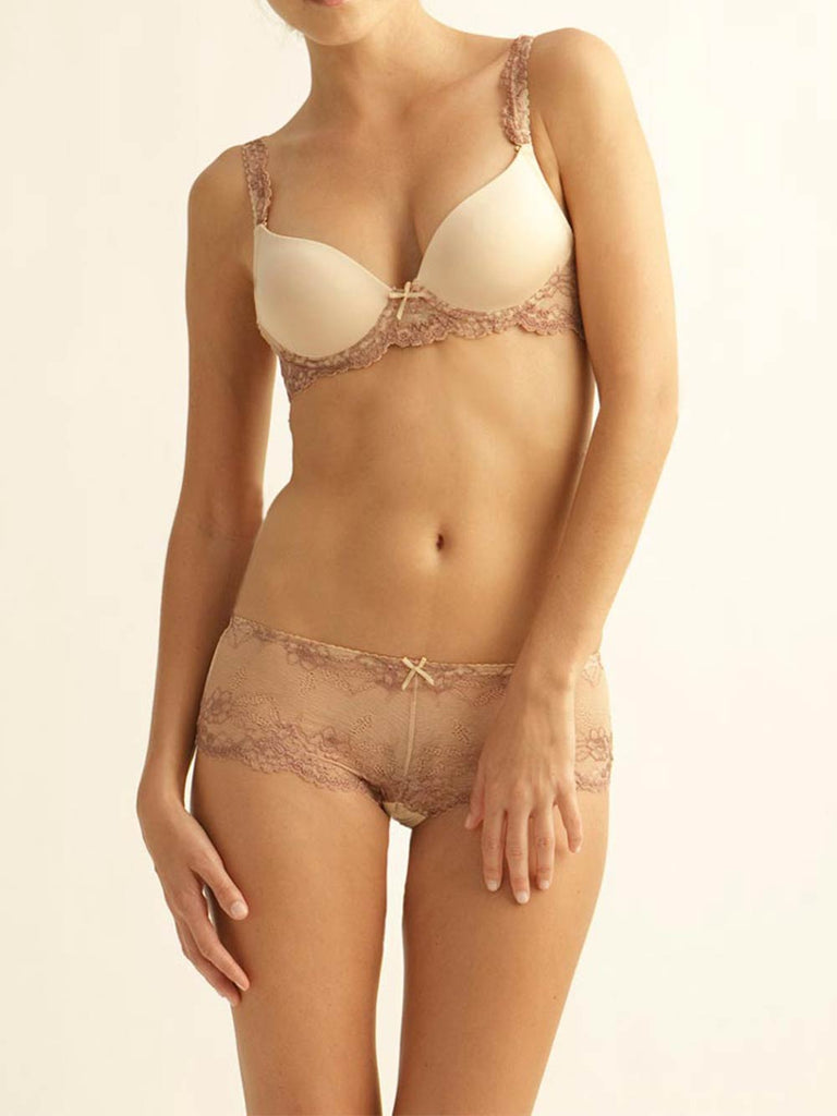 The Little Bra Company Yvonne Padded Demi Bra Nude/Mocha