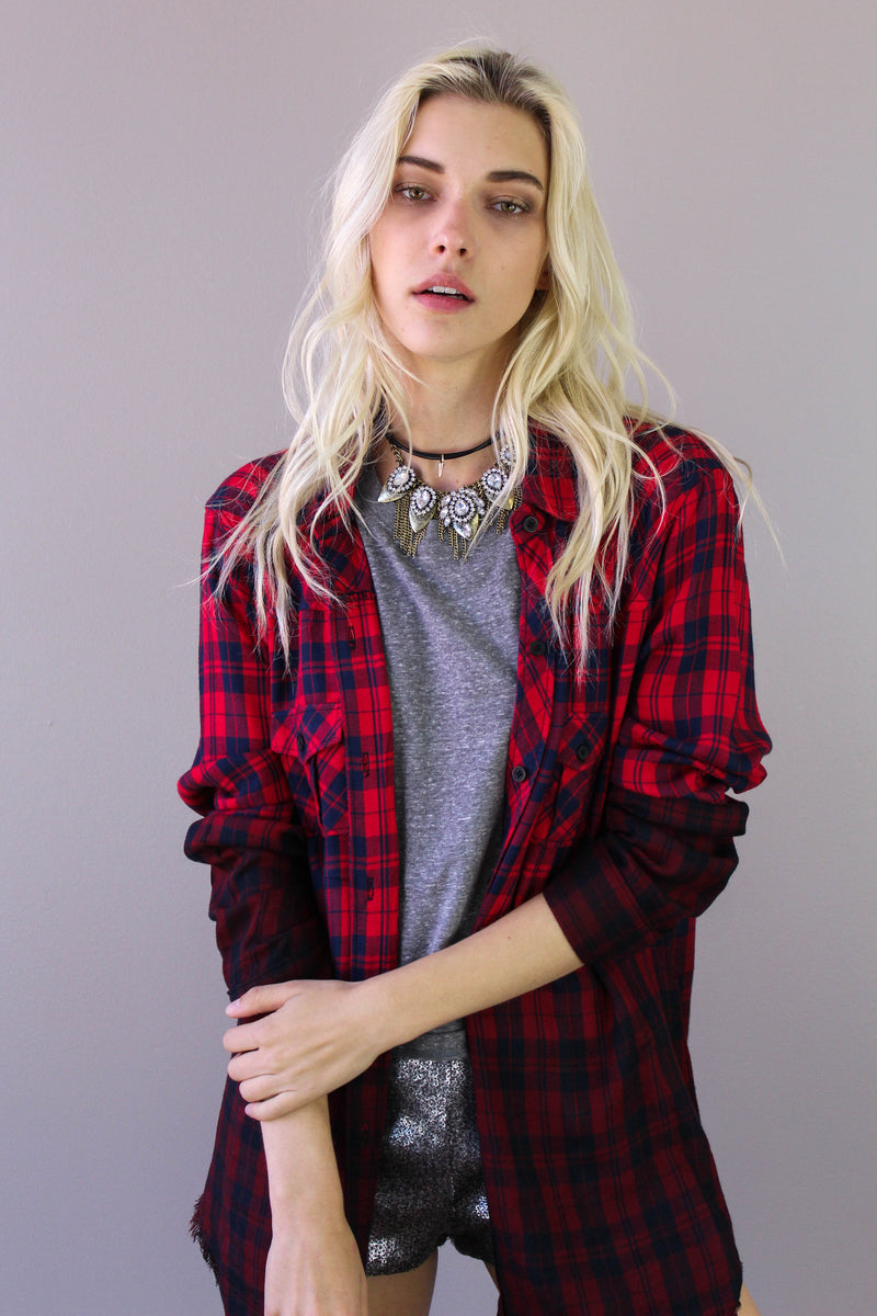 Red Ombre Plaid