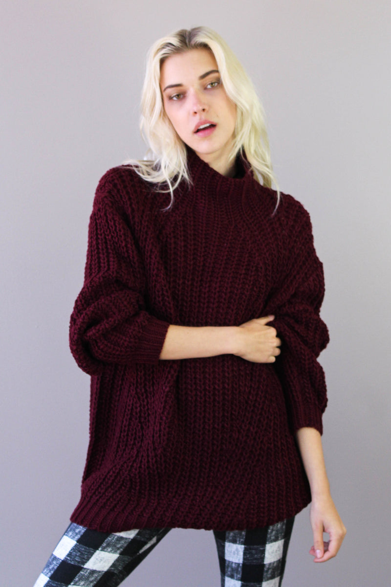 Oxblood Turtleneck