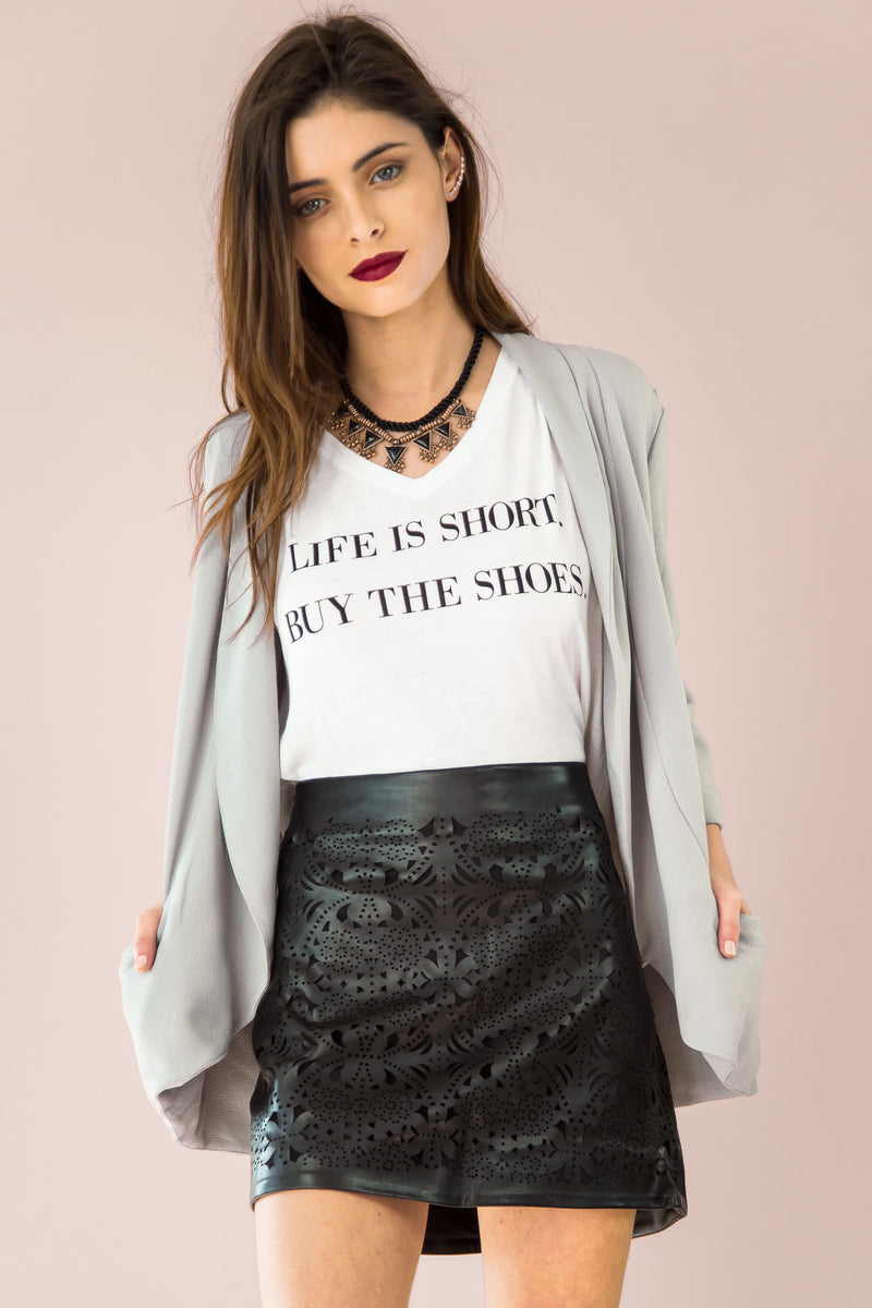 Life is Short Buy the Shoes V-Neck Tee