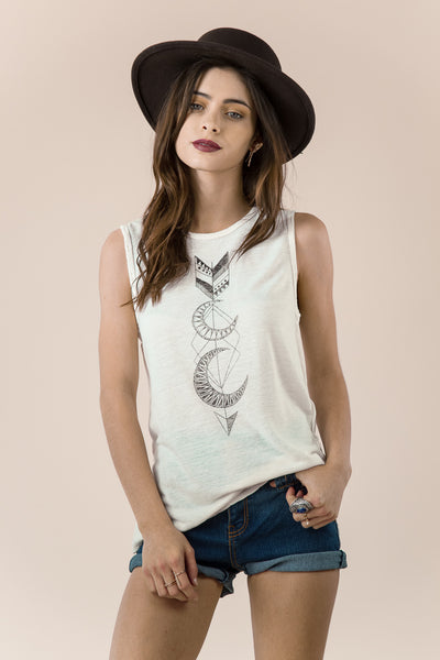 Crescent Moon Tribal Arrow Tank