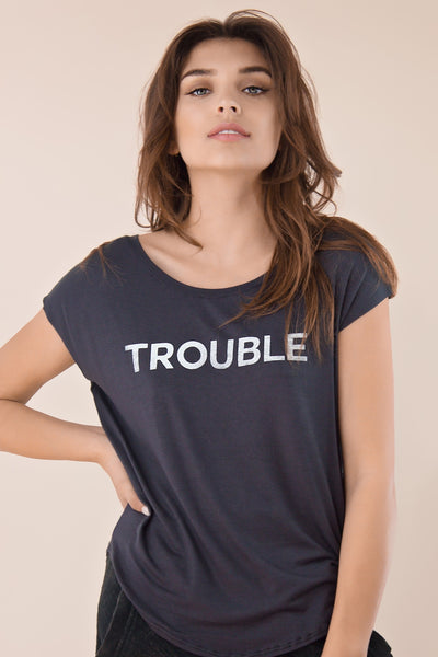 Trouble Scoop Neck tee