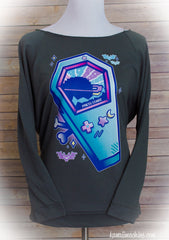 Dead Format Pastel Gaming 3/4 Sleeve Wide Neck Sweatshirt