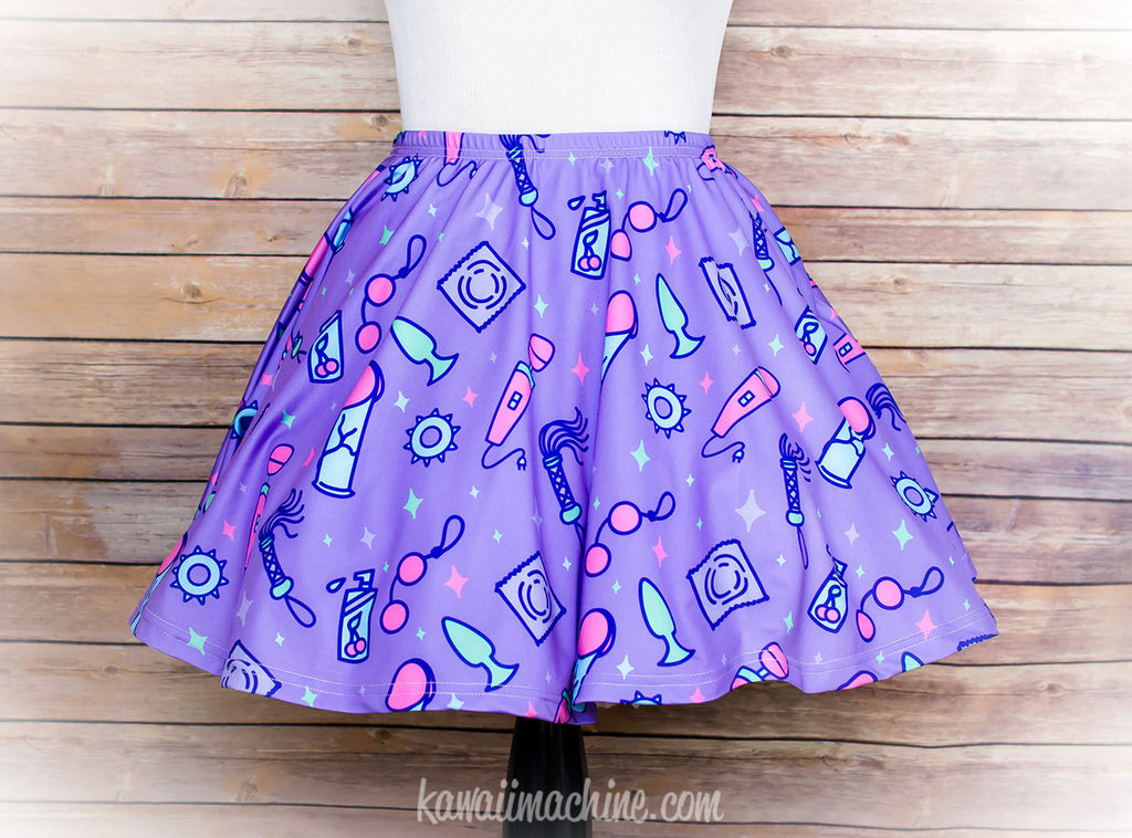 Sexy Time, Skater Skirt, Sex Toy Party, Plus Size, Dildo, Flogger, BDSM Gift, Kawaii, Penis, Pastel Goth Clothing