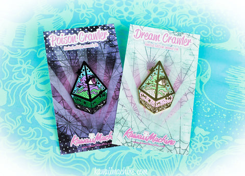 Dream and Poison Crawler, DnD Gift, Kawaii, Soft Enamel Pin, Pingame, Fairy Kei, Pastel Goth, Beholder