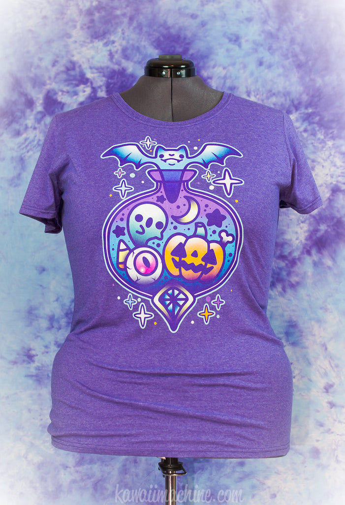 Midnight Magic Pastel Cute Halloween Potion Bottle Graphic Shirt Fairy Kei Pastel Goth Creepy Cute