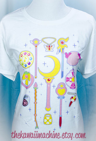Choose Your Weapon Shirt, Fairy Kei, Pastel Goth, Cute Fun Clothing, Plus Size, Sailor Moon, Magical Girl Power