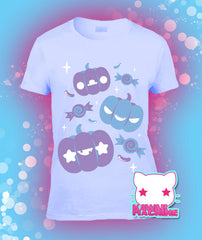 Pumpkin Gang Halloween Inspired Graphic T Shirt Kawaii Fairy Kei Pastel Goth
