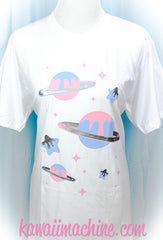 Melty Stars and Planets Graphic T Shirt Kawaii Fairy Kei Pastel Goth