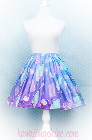 Sugar Pop Novelty Ice Cream, Skater Skirt, Kawaii, Fairy Kei Clothing, Vaporwave, Aesthetic, Plus Size, Pastel Grunge