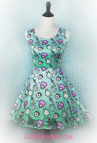 Oracle, Skater Dress, Pastel Goth Clothing, Fairy Kei, Pastel Grunge, Kawaii, Aesthetic, Plus Size