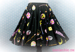 Choose Your Weapon, Skater Skirt, Kawaii, Fairy Kei Clothing, Pastel Goth, Plus Size, Sailor Moon, Magical Girl