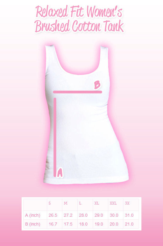 S to 3X Women's Relaxed Tank Upgrade