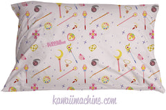 Pastel Goth Fairy Kei Soft Grunge Pastel Grunge Kawaii Aesthetic Bedding Pillowcase Sailor Moon Magical Girl Choose Your Weapon