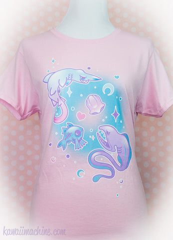 Deep Creeps, Aesthetic Shirt, Pastel Goth Clothing, Pastel Grunge, Creepy Cute, Plus Size, Kawaii