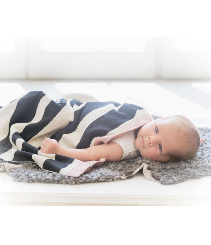 Elodie Details Cotton Knitted Blanket - Zebra Sunshine
