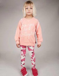 Mini Rodini Dolphin Print Leggings Pink
