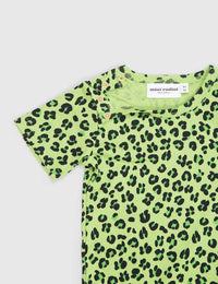 Mini Rodini Leopard Print Shortsleeve Body Green