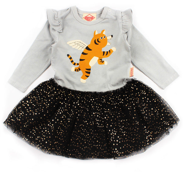 Bebedepino Winged tiger baby star mesh dress