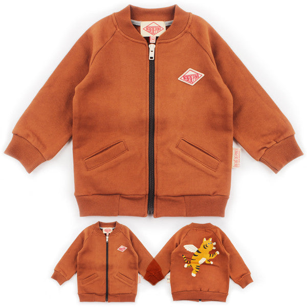 Bebedepino Winged tiger zip up baby jacket