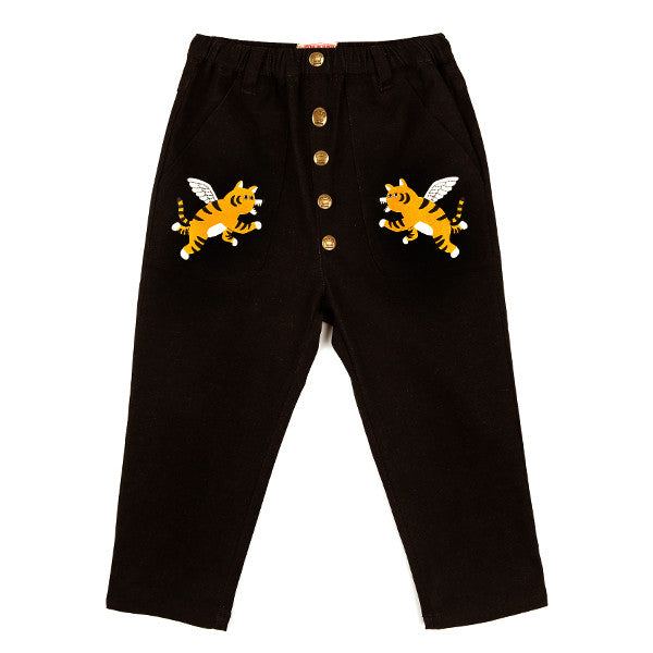 Bebedepino Twin winged tiger outpocket pants